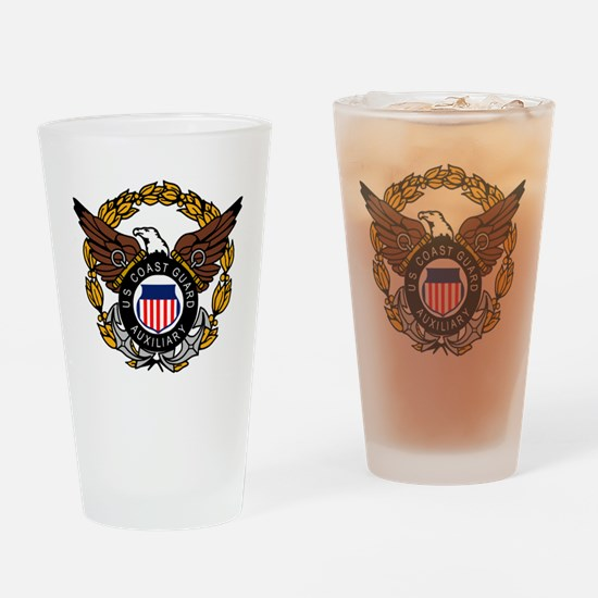 USCGAux-Eagle-Colored.gif Drinking Glass