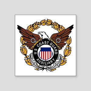 """USCGAux-Eagle-Colored.gif Square Sticker 3"""" x 3"""""""