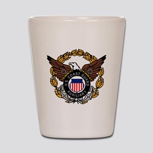 USCGAux-Eagle-Colored Shot Glass