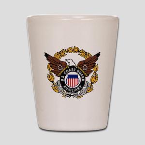 USCGAux-Eagle-Colored Shot Glass