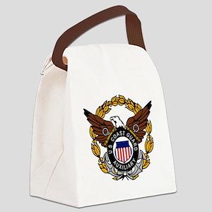 USCGAux-Eagle-Colored Canvas Lunch Bag