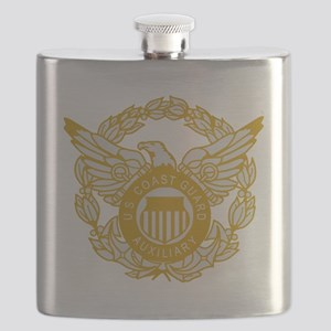 USCGAux-Eagle-Silver Flask