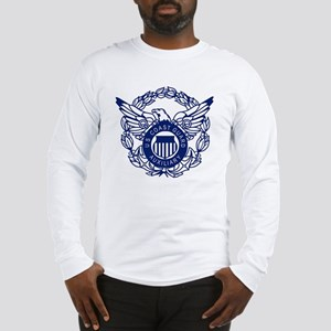 USCGAux-Eagle-Blue-X Long Sleeve T-Shirt