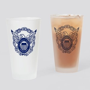 USCGAux-Eagle-Blue-X Drinking Glass