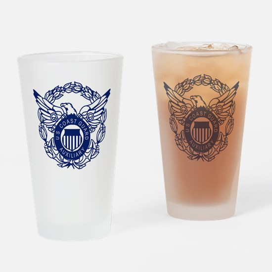 USCGAux-Eagle-Blue-X.gif Drinking Glass