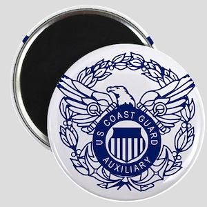 USCGAux-Eagle-Blue-X Magnet