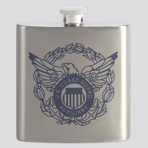USCGAux-Eagle-Blue-X Flask