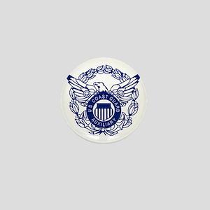 USCGAux-Eagle-Blue-X Mini Button