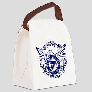 USCGAux-Eagle-Blue-X Canvas Lunch Bag
