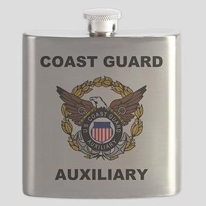 USCGAux-Eagle-Shirt Flask