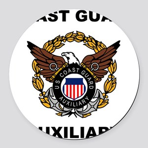 USCGAux-Eagle-Shirt Round Car Magnet