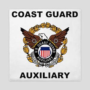 USCGAux-Eagle-Shirt Queen Duvet