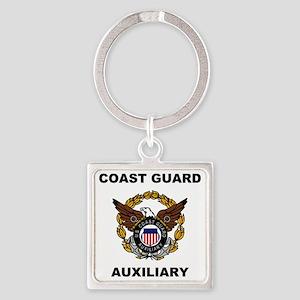 USCGAux-Eagle-Shirt Square Keychain