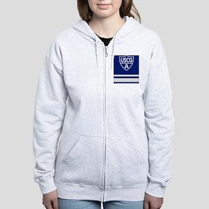 USCGAux-Rank-VFC-Journal Women's Zip Hoodie