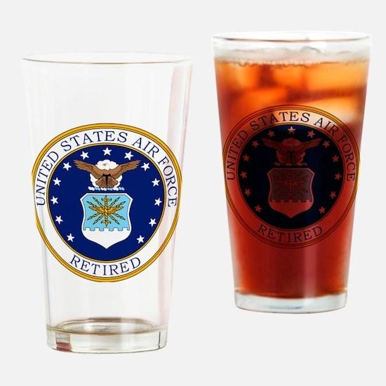 USAF-Retired-Bonnie.gif Drinking Glass