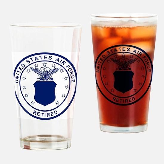 USAF-Retired-Blue-Bonnie.gif Drinking Glass