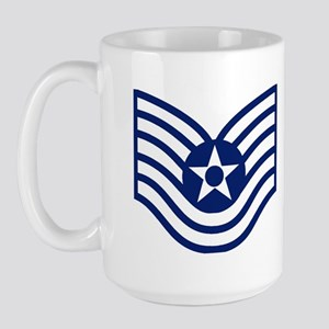 USAF-Retired-TSgt-Mug Large Mug