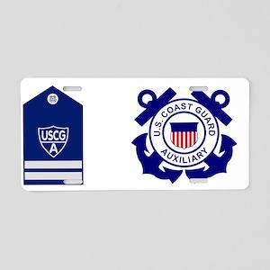 USCGAux-Rank-FC-Mug Aluminum License Plate