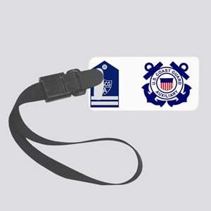 USCGAux-Rank-FC-Mug Small Luggage Tag