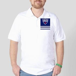 USCGAux-Rank-SO-Sticker Golf Shirt