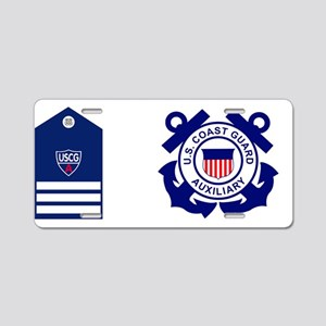 USCGAux-Rank-DVC-Mug Aluminum License Plate