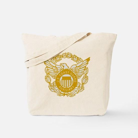 USCGAux-Black-Shirt-7X Tote Bag