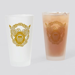 USCGAux-Black-Shirt-7X Drinking Glass