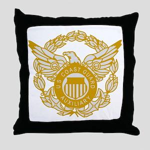 USCGAux-Black-Shirt-7X Throw Pillow