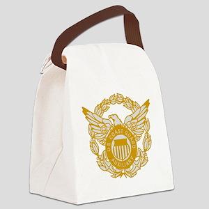 USCGAux-Black-Shirt-7X Canvas Lunch Bag