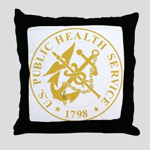 USPHS-Black-Shirt-4 Throw Pillow