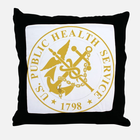 USPHS-Black-Shirt-4 Throw Pillow