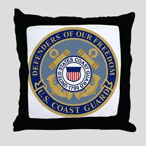 USCG-Defenders-Blue-Blue Throw Pillow