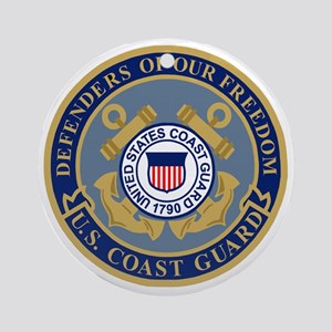 USCG-Defenders-Blue-Blue Round Ornament