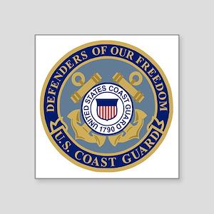 "USCG-Defenders-Blue-Blue.gi Square Sticker 3"" x 3"""