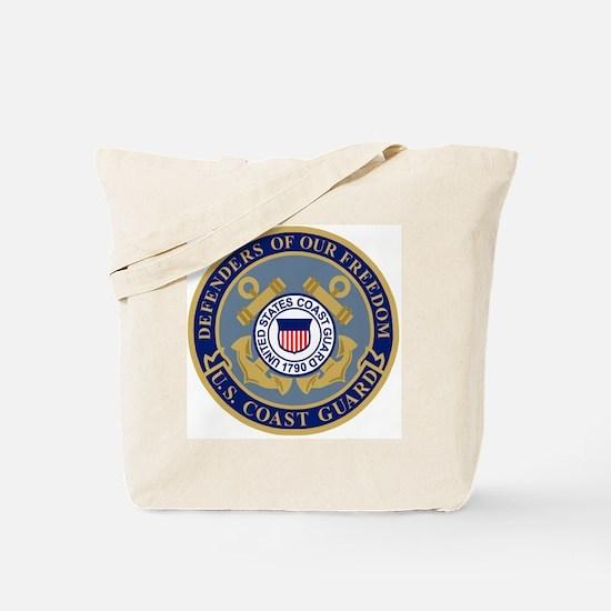 USCG-Defenders-Blue-Blue.gif Tote Bag