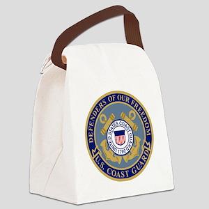USCG-Defenders-Blue-Blue Canvas Lunch Bag