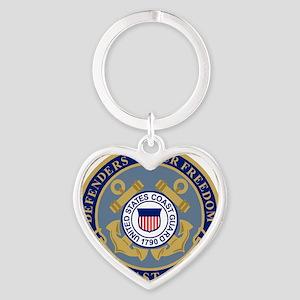 USCG-Defenders-Blue-Blue Heart Keychain