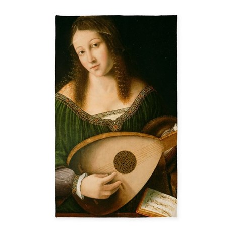 Veneto lady playing lute 3 39 x5 39 area rug by for Veneto arreda 3