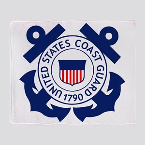 Delete-USCG-Logo-2-X Throw Blanket