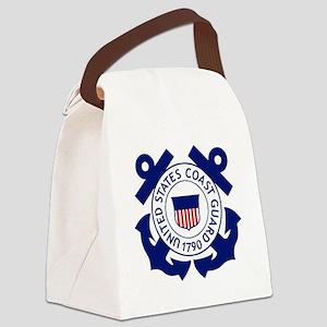 Delete-USCG-Logo-2-X Canvas Lunch Bag