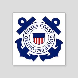 """Delete-USCG-Logo-2-X Square Sticker 3"""" x 3"""""""