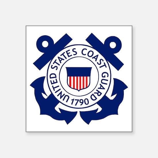 """Delete-USCG-Logo-2-X.gif Square Sticker 3"""" x 3"""""""