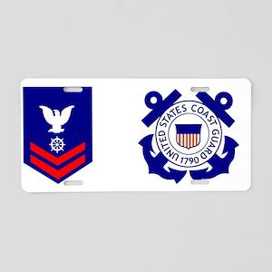 USCG-QM2-Mug Aluminum License Plate