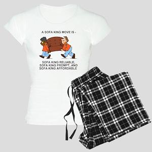 Sofa-King-Movers-Shirt-Back Women's Light Pajamas