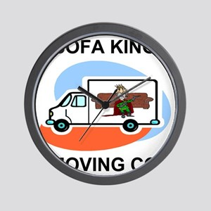 Sofa-King-Movers-Shirt-Front Wall Clock