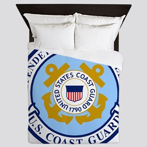 USCG-Defenders-Blue-Gold Queen Duvet