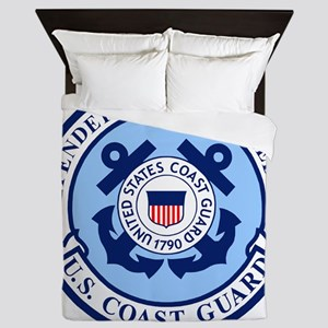 USCG-Defenders-Blue-White Queen Duvet