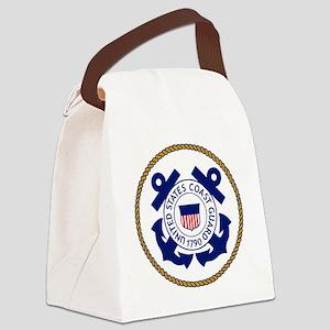 USCG-Logo-3-Chief Canvas Lunch Bag