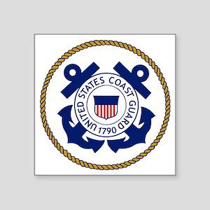 "USCG-Logo-3-Chief Square Sticker 3"" x 3"""