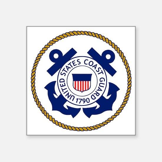 "USCG-Logo-3-Chief.gif Square Sticker 3"" x 3"""